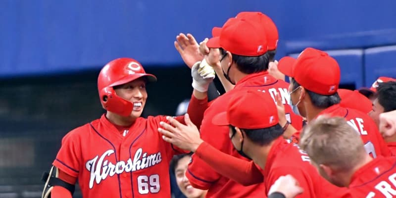 広島・羽月がプロ初本塁打「何とか塁に出ようと…」四回、福谷から同点ソロ