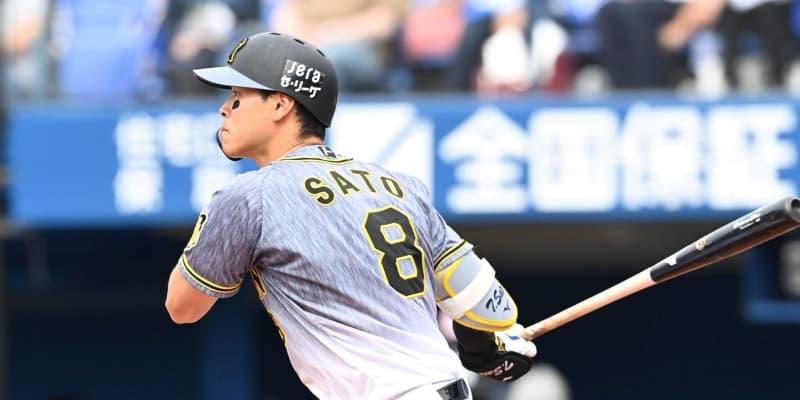 阪神4番・佐藤輝、先制中前打「良いところでしっかり打つことできた」6戦連続安打
