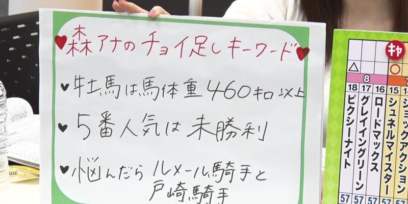 【NHKマイルC】森香澄アナのチョイ足しキーワード『牡馬は馬体重460キロ以上・5番人気は未勝利』