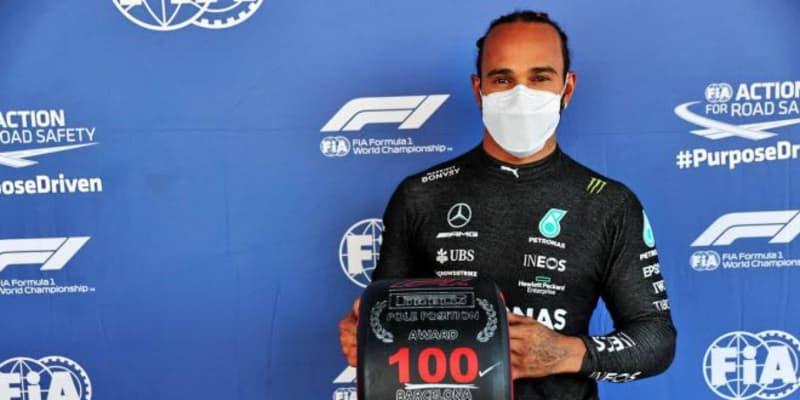 接戦を制したハミルトンが通算100回目のポール獲得。フェルスタッペン僅差の2番手【予選レポート/F1第4戦】