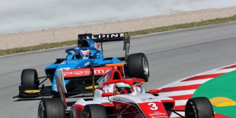 トップ2台が2度脱落する大乱戦をコルドウェルが制す。岩佐歩夢は7位入賞【FIA-F3第1戦スペイン レース2】