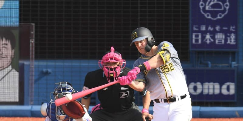 阪神・サンズ、ピンクバットで価値ある同点二塁打「テルがよく走ってくれた」