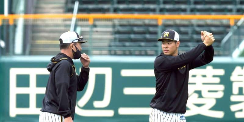 佐藤輝、有観客甲子園でも阪神の4番 井上ヘッド明言「大山が復帰するまで」