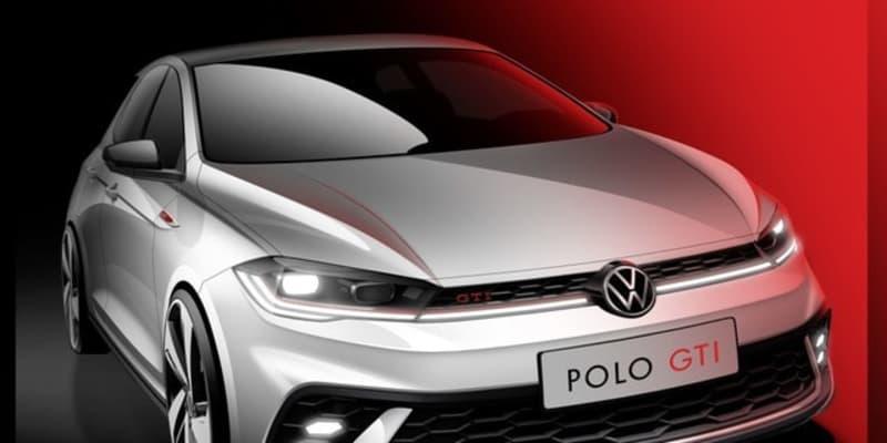 VW ポロGTI 改良新型、6月末にモデル発表予定…ティザースケッチ公表