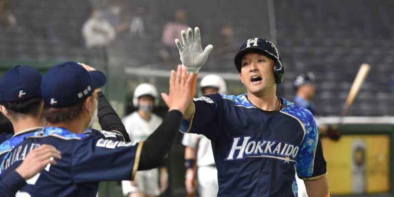 日本ハム・杉谷「前のめり魂打法」で2号ソロ「宮城投手という素晴らしい投手から…」