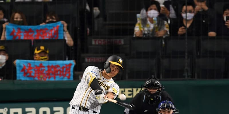 阪神ドラ1佐藤輝が16試合連続出塁 第3打席で中前打 近本の球団新人記録にあと4