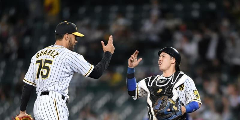 阪神スアレスがリーグ単独トップ10セーブ「続けていきたい」九回を圧巻5球締め