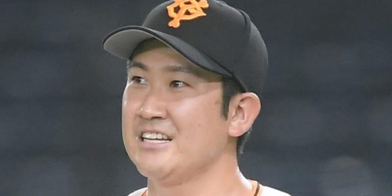 右肘違和感の巨人・菅野がジャイアンツ球場で調整 視察の桑田コーチと会話
