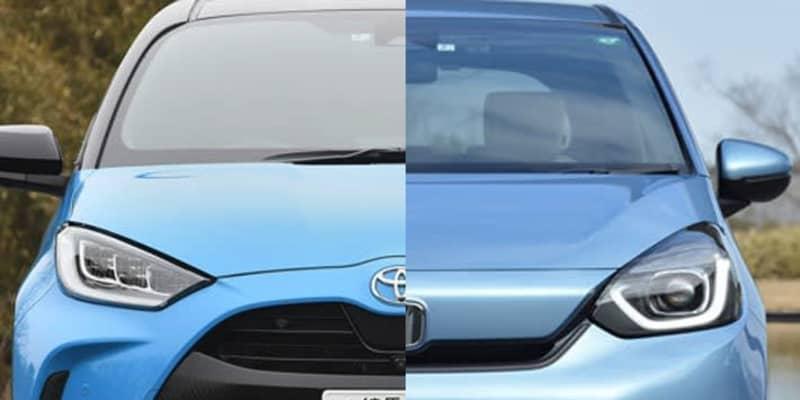 激戦国産コンパクトカー! 一部改良で盤石さを増したトヨタ ヤリスにホンダも対抗、フィット一部改良で巻き返しへ
