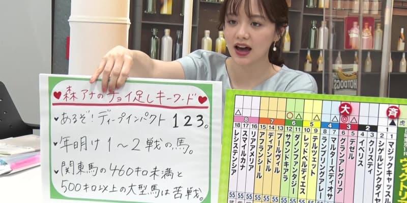 【ヴィクトリアM】森香澄アナのチョイ足しキーワード『あるぞ!ディープインパクト1 2 3。』