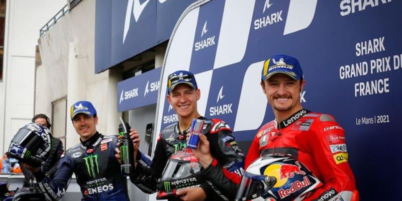 ポール獲得のクアルタラロ、決勝でのコンディションに「スリックで走れればいいけど……」/MotoGP第5戦予選トップ3コメント