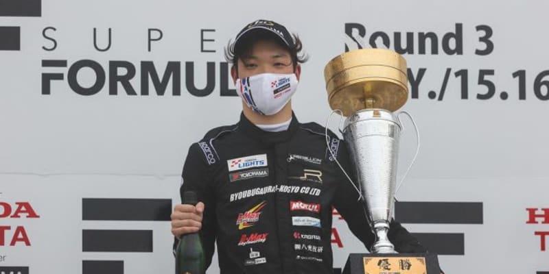 荒天のスーパーフォーミュラ・ライツ第8戦は2周のマッチレースを制し名取鉄平が5勝目