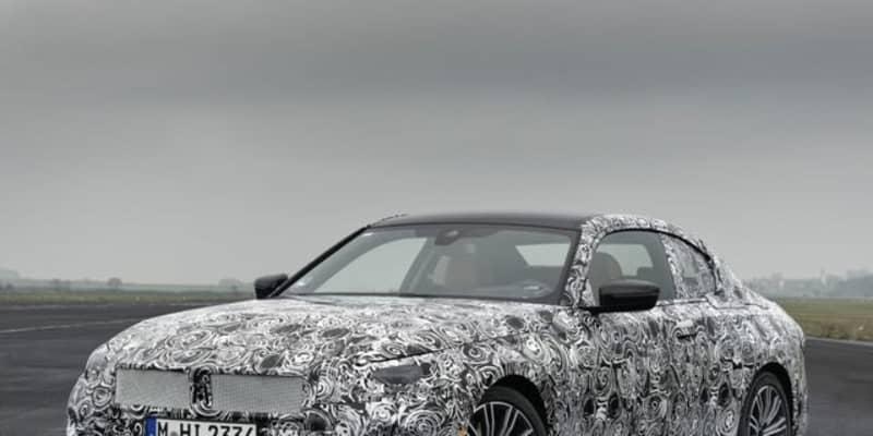 BMW 2シリーズクーペ 次期型、FR駆動を継続…プロトタイプの写真