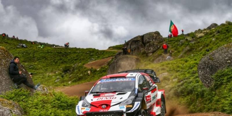 トヨタのエバンスが最終日を前に首位浮上。勝田貴元はオジエとの表彰台争いへ/WRCポルトガル