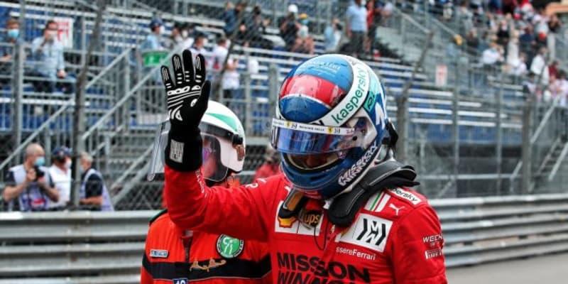 ルクレール、予想外のポールに喜びもクラッシュのダメージを懸念「グリッド確定を祈る思いで待っている」/F1第5戦