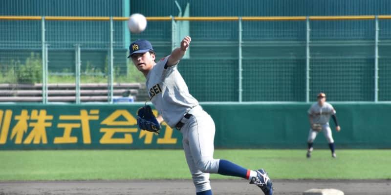 関学大・黒原 中2日で2試合連続完封 今秋ドラフト候補の熱投で8年ぶりV王手