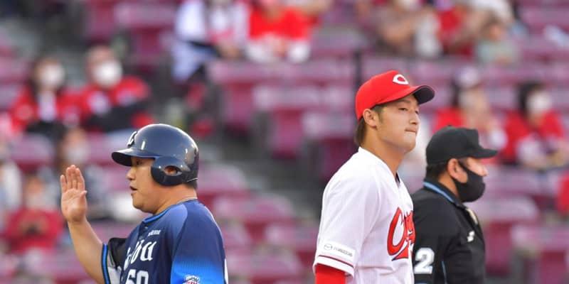 広島・床田が3回7安打4失点で降板 初回に攻められ、投球数も87球