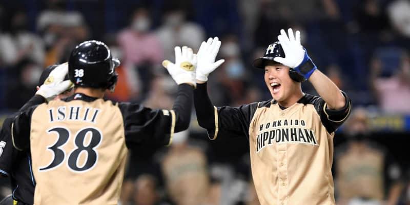 日本ハム・高浜、初の満塁弾「めちゃくちゃうれしい」 兄は元虎戦士・ロッテ卓也