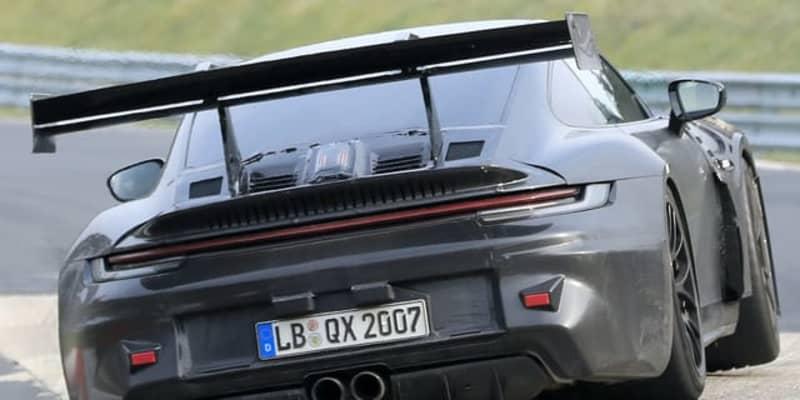 F1技術のリアウィング装備! ポルシェ 911GT3 RS 新型に謎の充電口も