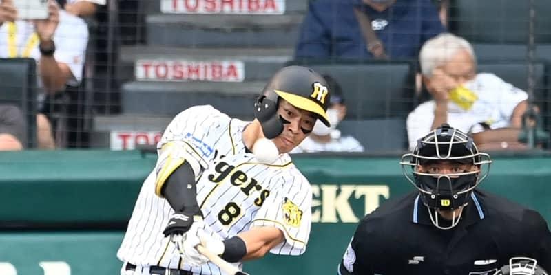 阪神・佐藤輝が交流戦新人最多記録の5本塁打 3三振後、九回に意地の15号ソロ
