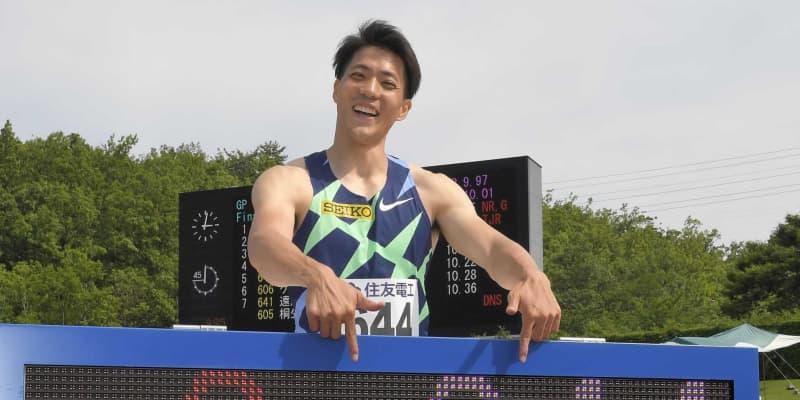 9秒95山県 日本人最速は「足が追いつかない」五輪出場権「3番に入ってしっかり」