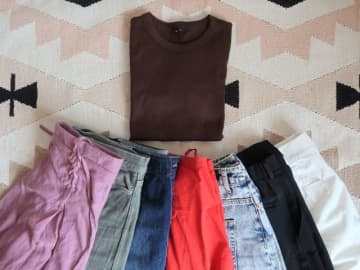 残暑&秋コーデにはブラウンのTシャツが使える!