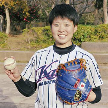 女子硬式野球 金満梨々那さん(18歳) 攻守で日本支える選手に