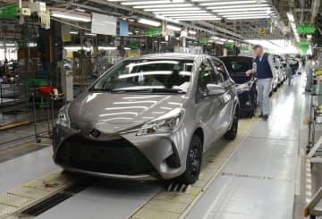 トヨタ自動車東日本岩手工場で製造されているヴィッツ