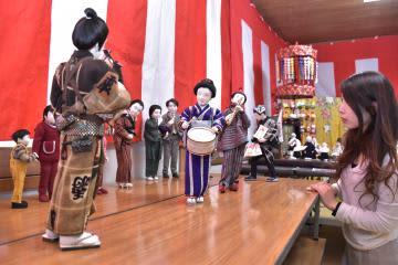 石島博子さんの創作人形展=桜川市東桜川