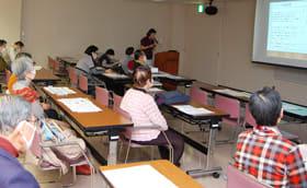 市民らがインフルエンザ感染予防策や「昼間の眠気」について学んだ講座