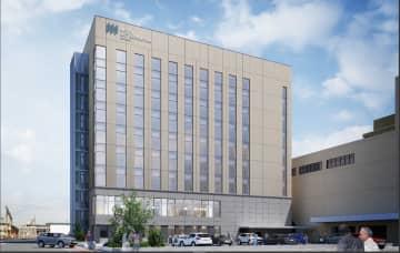 ホテルメトロポリタン秋田別館のイメージ図(JR東日本秋田支社提供)