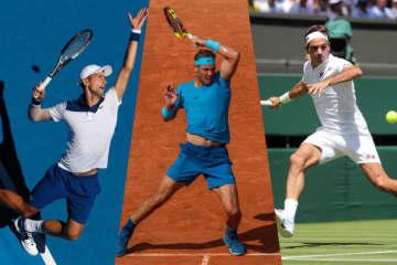 写真は左から2018年全豪オープン、全仏オープン、ウィンブルドン
