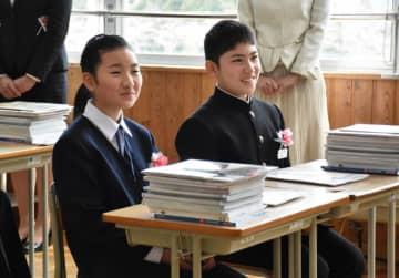 吉浜中最後の1年生として新生活を始めた生徒