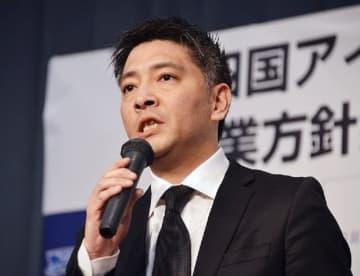四国アイランドリーグの坂口裕昭理事長