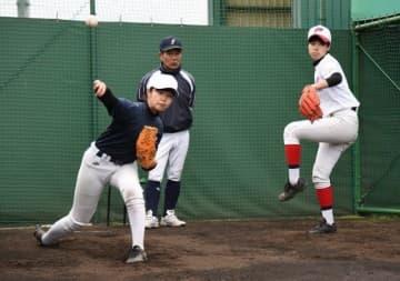 女子硬式野球部が学芸館高に誕生 岡山県内初、1年生9人で始動
