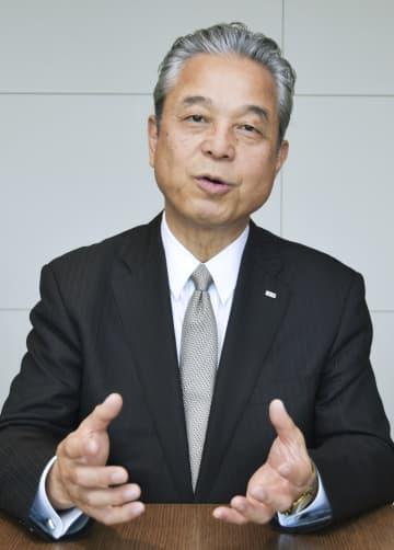 インタビューに応じたJERA(ジェラ)の小野田聡社長=18日、東京都中央区
