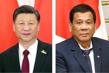 中国の習近平国家主席、フィリピンのドゥテルテ大統領
