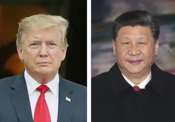 トランプ米大統領(左)、中国の習近平国家主席