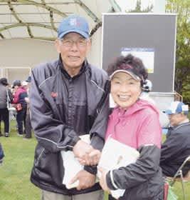 優勝した増田さん(左)と阿閉さん