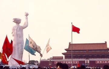 Goddess of Democracy in Tiananmen Square in 1989. Photo: Chan Ching-wah/Citizen News.