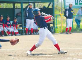 【室蘭港北クラウン―北桧山ラウドネス】港北は4回、嘉津山が中越えのエンタイトル二塁打
