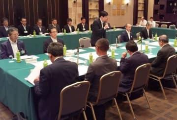 国の緊急治水対策について議論した県と中国地方整備局との懇談会