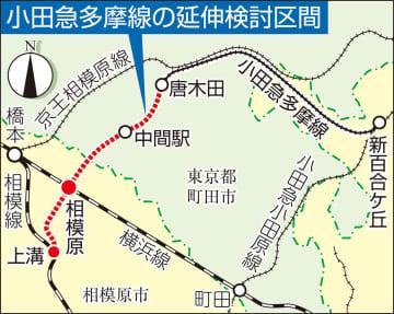 小田急多摩線の延伸検討区間