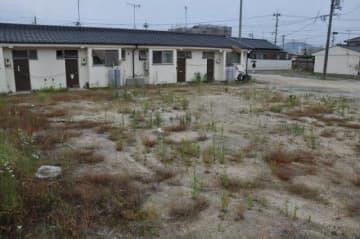 全壊した市営住宅の建て替えと合わせ、災害公営住宅を新設する「川辺団地」=倉敷市真備町川辺