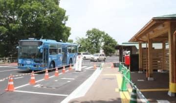 10日から利用が始まる新しいバス停
