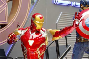 米SFアクション映画「アベンジャーズ」のキャラクター、アイアンマン=5月3日、香港(ゲッティ=共同)