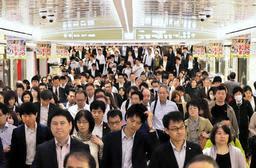 AIを活用した空調システムの実験で、大幅に電力を削減できることが分かった地下街「さんちか」=神戸市中央区