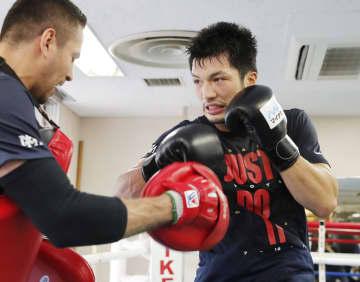 WBAミドル級世界戦に向け練習する村田諒太=東京都新宿区の帝拳ジム