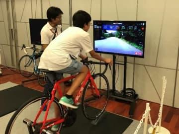 自転車ロードレースが疑似体験できる