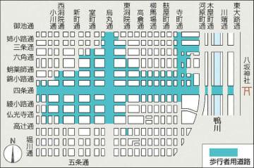 祇園祭期間に行われる京都市内の交通規制区間